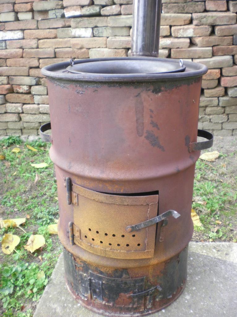 Как из бочки сделать печь для сжигания  19